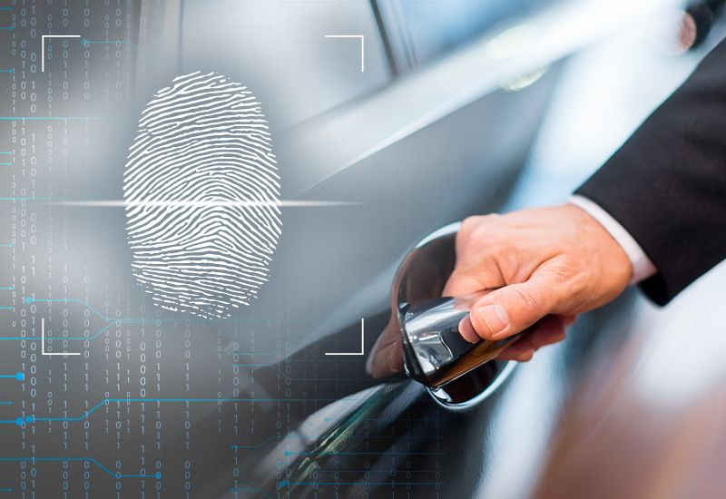 Unlocking and Turning On Your Car with a Finger Print